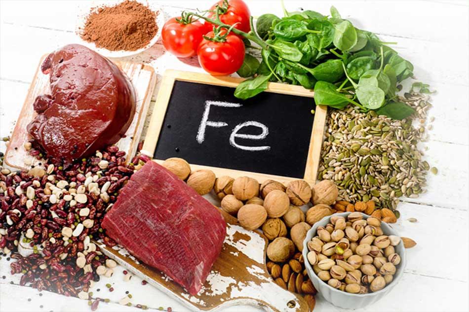 Một số thực phẩm chứa chất sắt